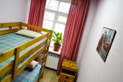 Double room with 1 bunk bed
